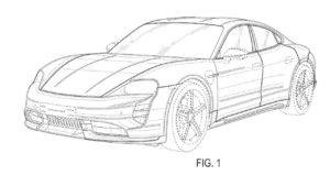 Porsche Taycan Cross Turismo sedan patent spy front side