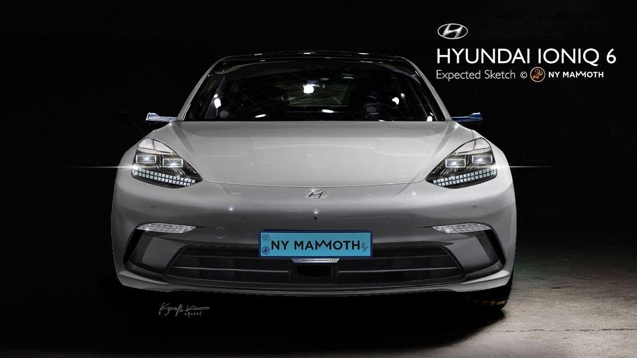 Hyundai Ioniq 6 front rendering