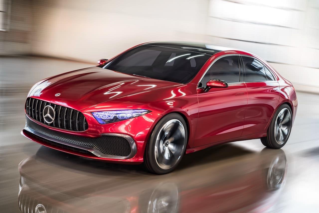 Mercedes Concept A Sedan front three quarters